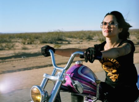 woman on motorcycle 2 450x330 - Yuri by Lanakila MacNaughton