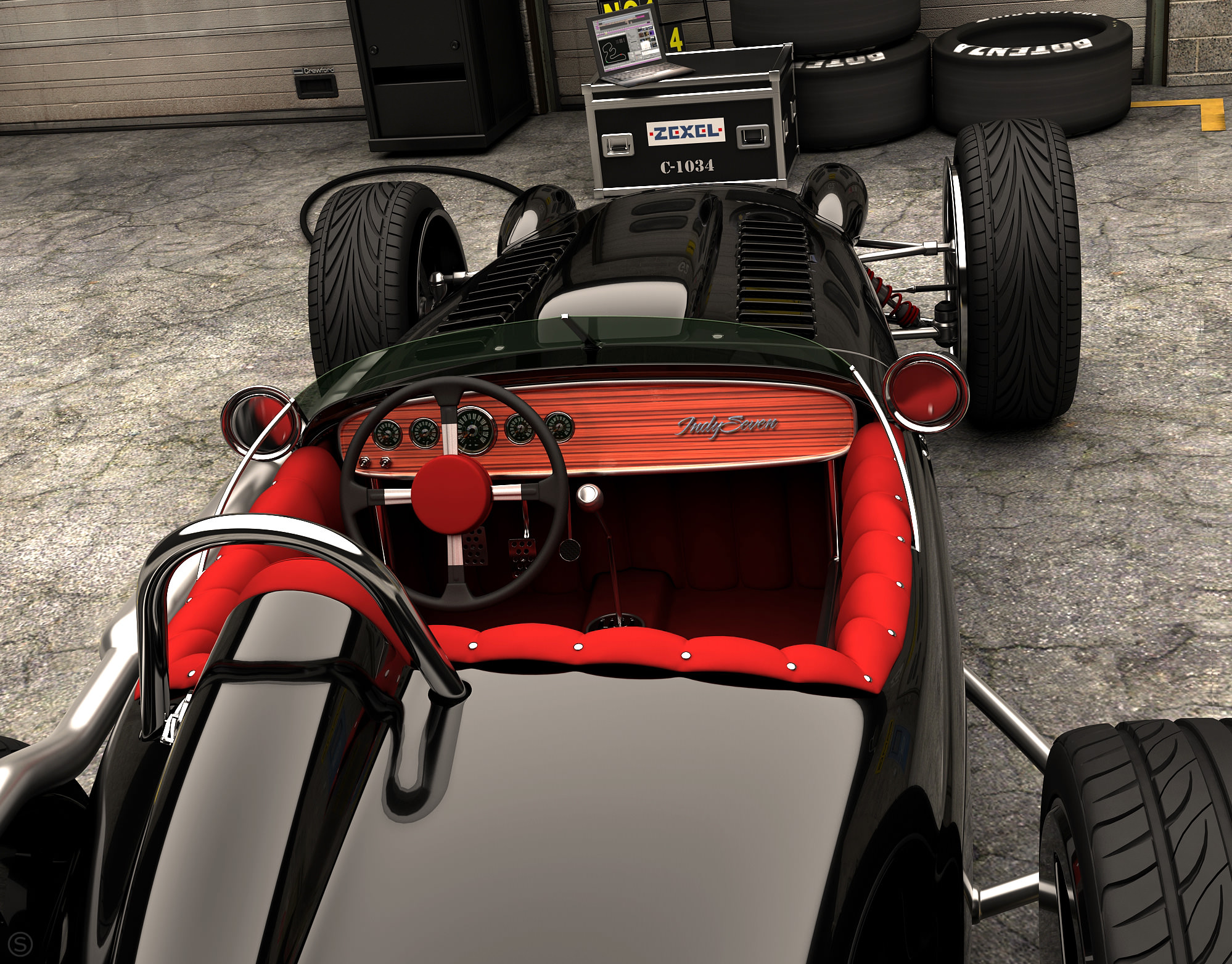 caf racer 76 caterham 7 indy custom. Black Bedroom Furniture Sets. Home Design Ideas