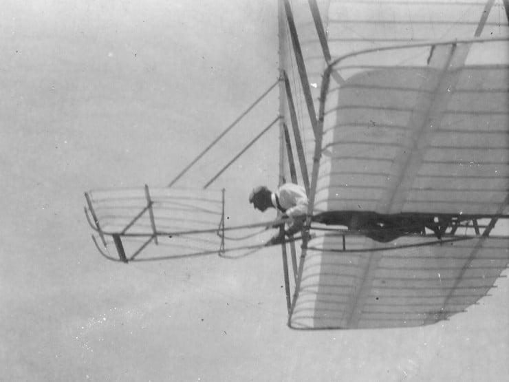 1901 Wright Glider flying