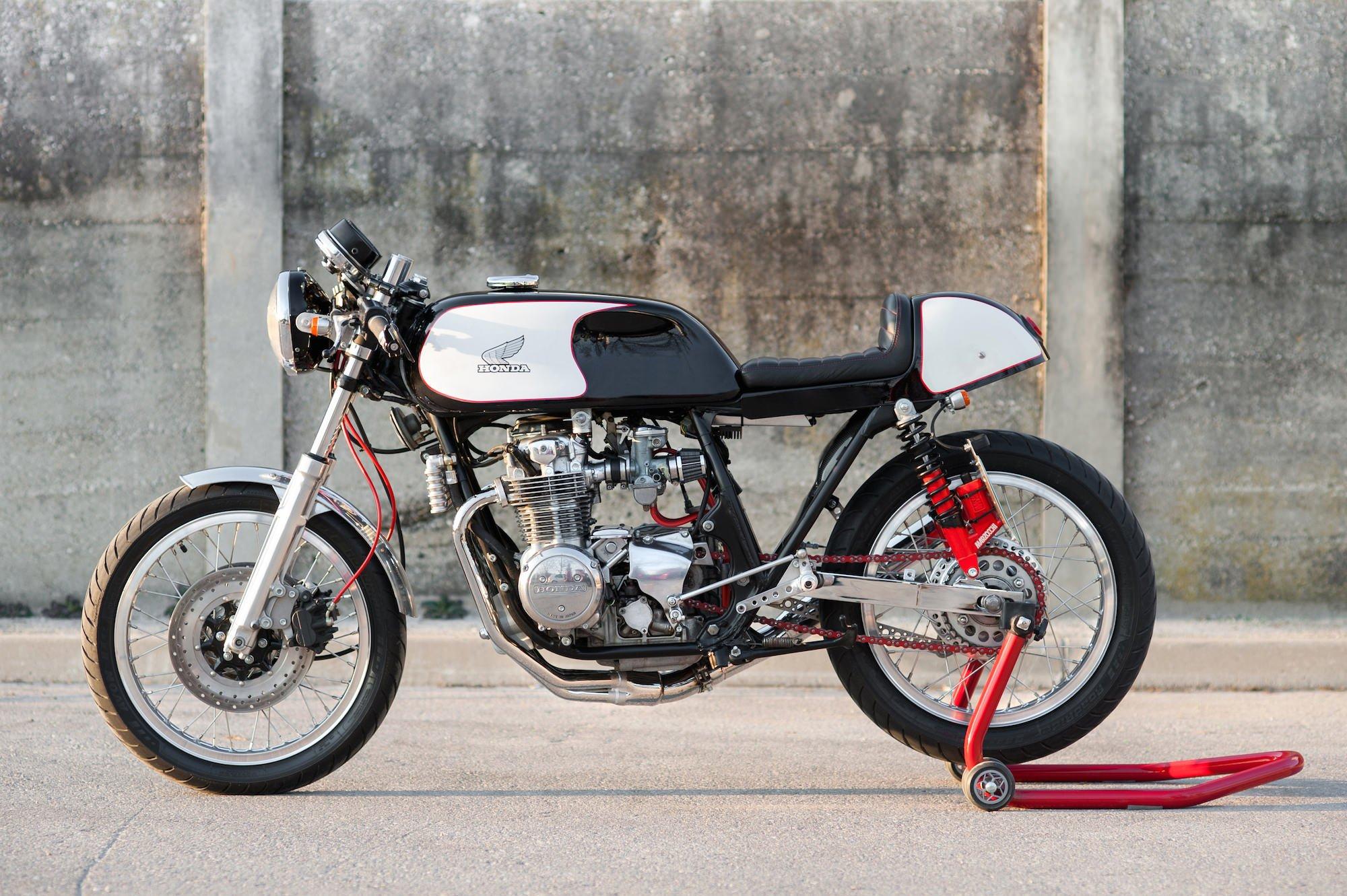 Visit Matej's website here. Honda CB550 Cafe Racer 1