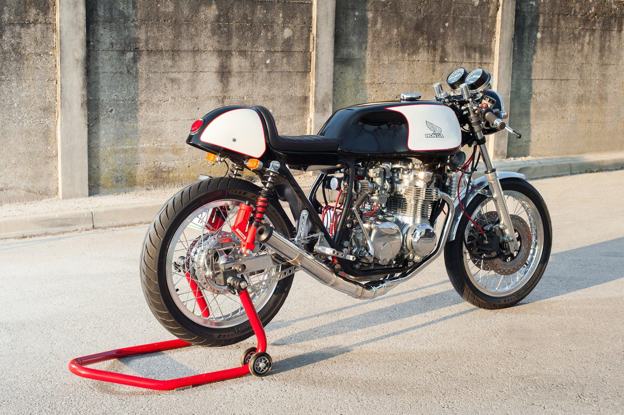 A Classic Honda CB550 Cafe Racer