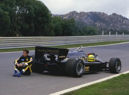Lotus 97T + Ayrton Senna