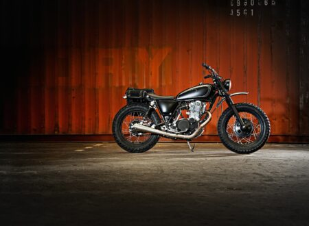 SR400 Custom Motorcycle 1 450x330 - Yamaha SR400 by The Wrenchmonkees