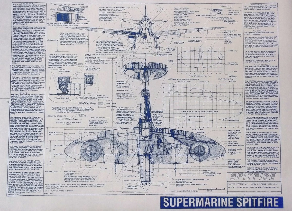 Supermarine spitfire blueprints malvernweather Choice Image