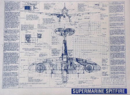 Supermarine Spitfire Blueprints 450x330 - Supermarine Spitfire Blueprints