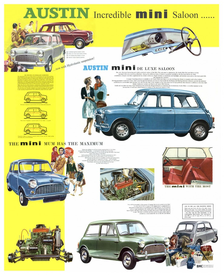 Austin Mini Saloon Poster