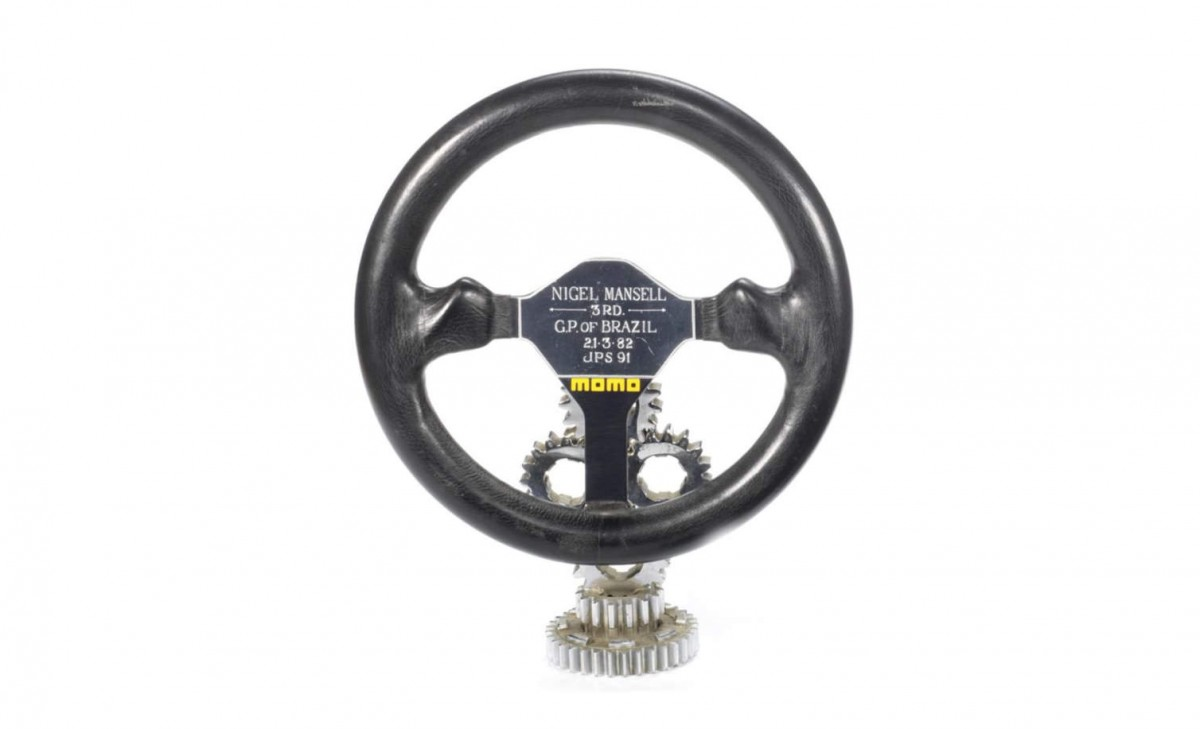 Nigel Mansell steering wheel 1200x729 - Nigel Mansell's Steering Wheel