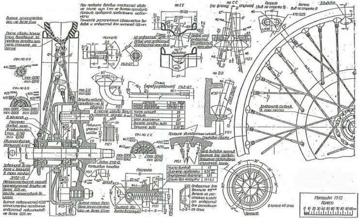 Russian M-72 Blueprints 16
