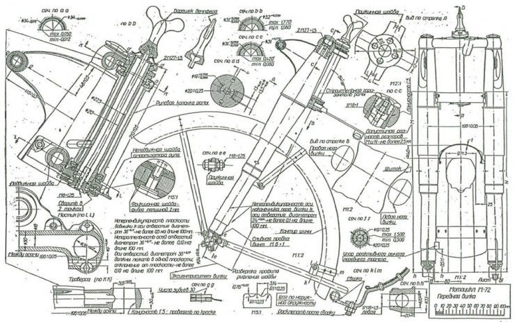 Russian M-72 Blueprints 2
