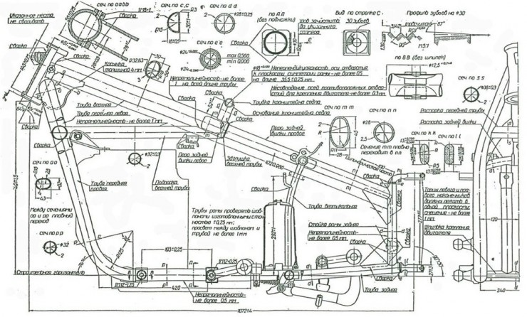 Russian M-72 Blueprints 4