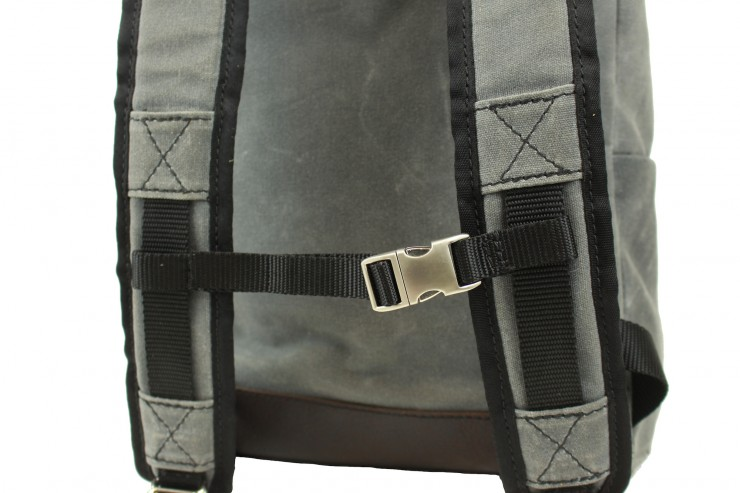 Waxed Canvas Rucksack by Rugged Material 2