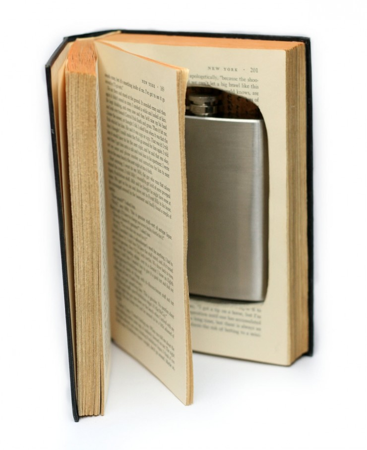 Booksafe Hipflask