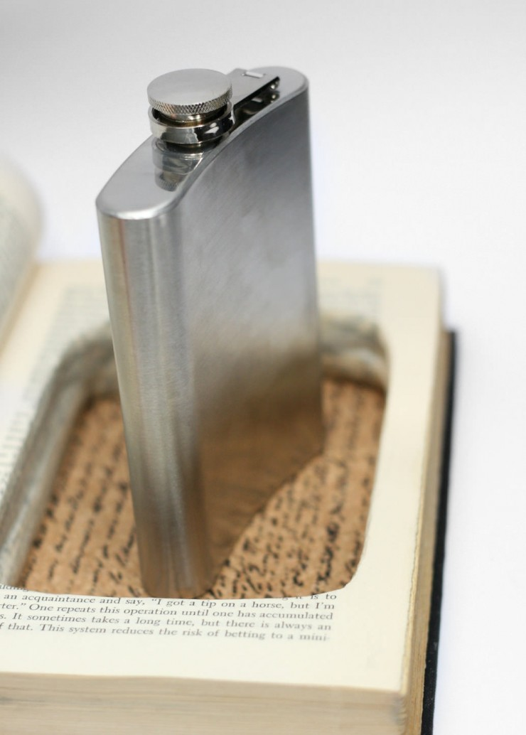Hipflask Inside a Book