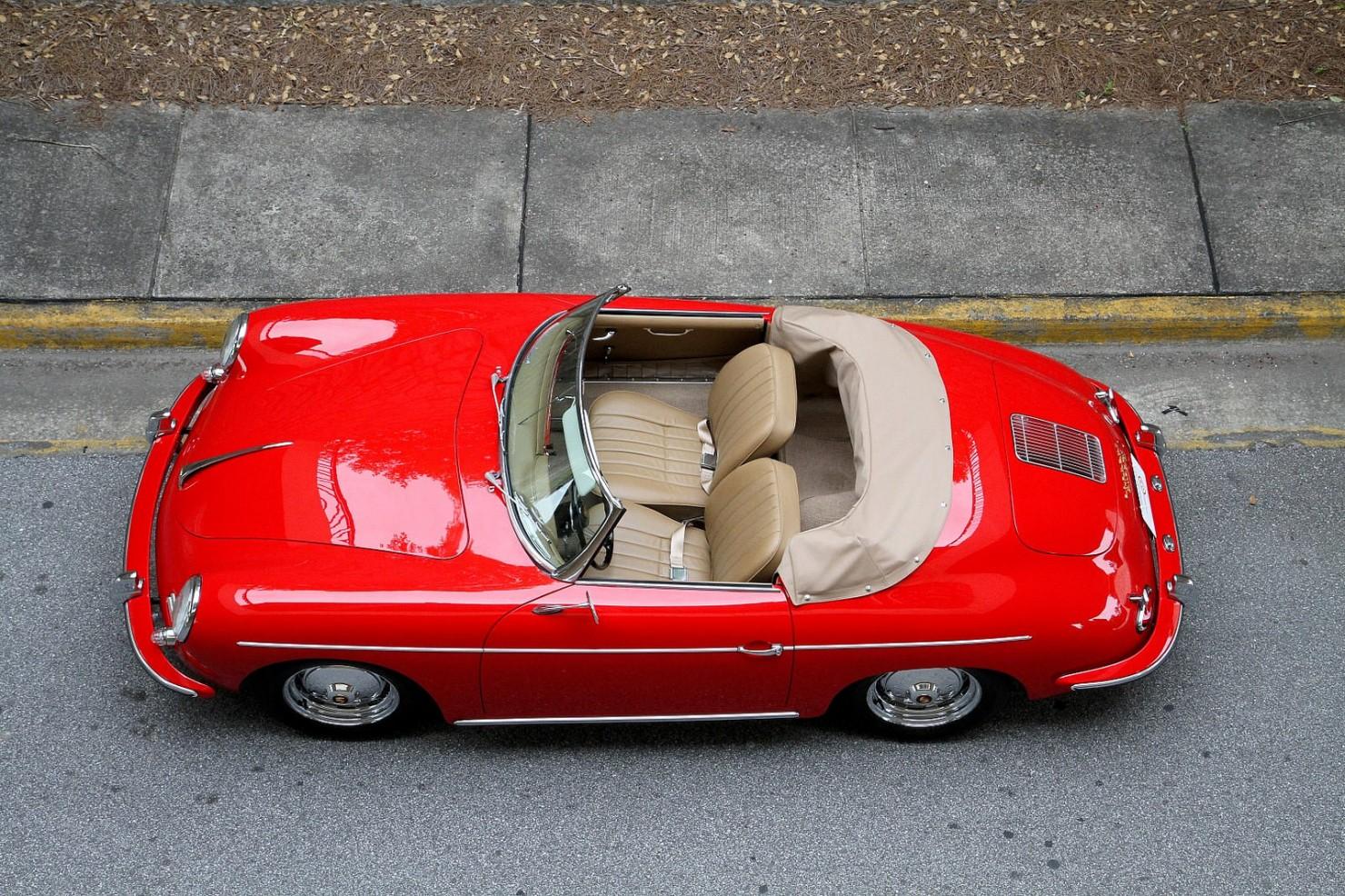 Porsche 356 Roadster Overhead
