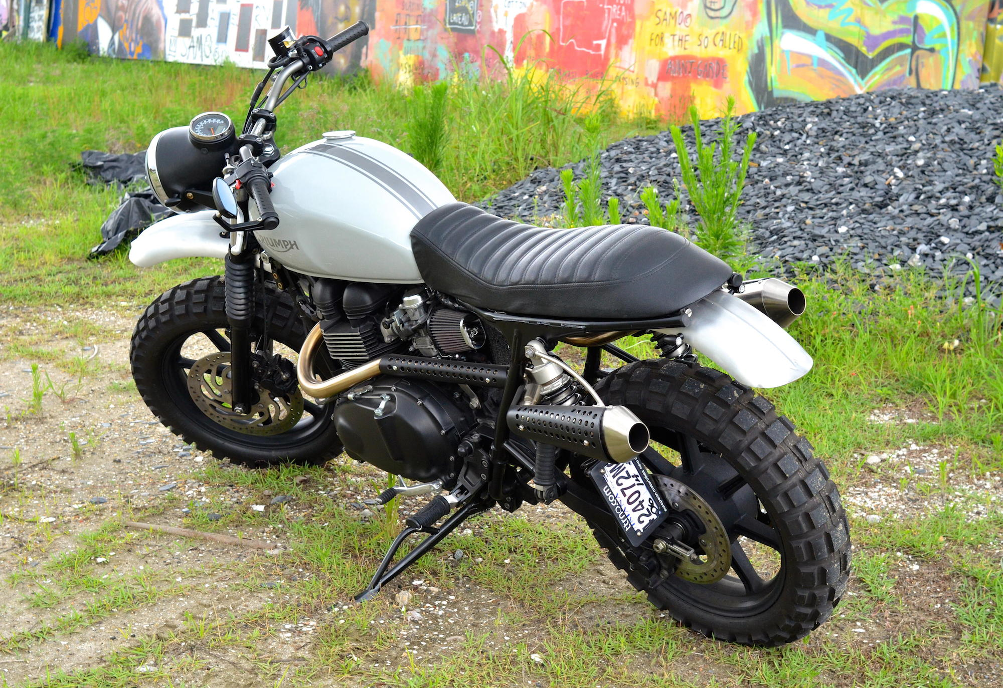 Motorcycle Rear Tire >> Triumph Swamp Scrambler by TTRNO