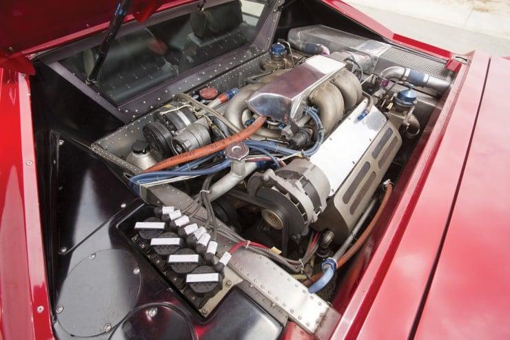 Vector W8 Twin Turbo Engine Bay