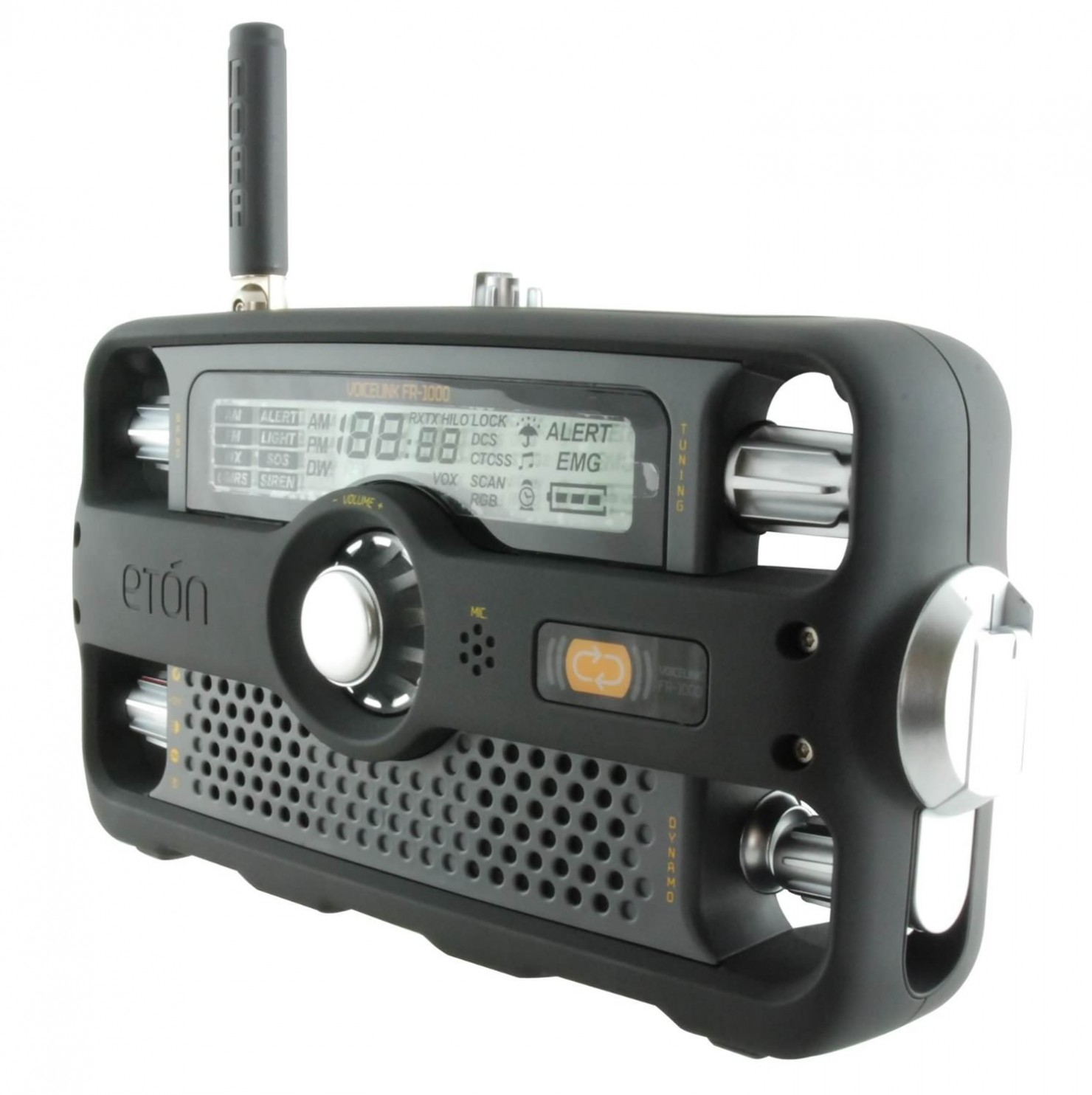 Etón Hand-Crank Two-Way Survival Radio 1