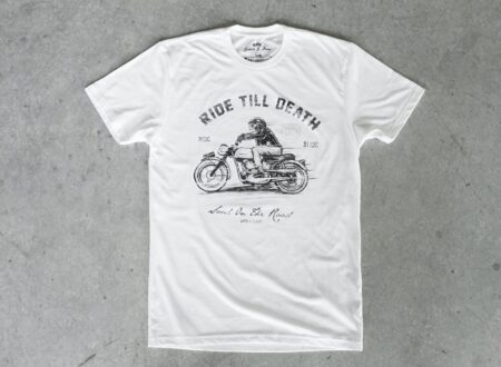 motorcycle t shirt 450x330 - Ride Till Death Tee by Scotch & Iron
