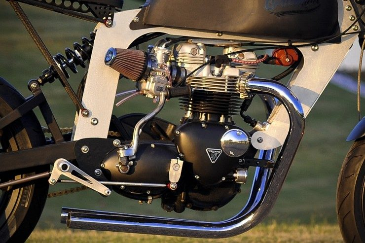 Bucephalus loaded gun custom motorcycle