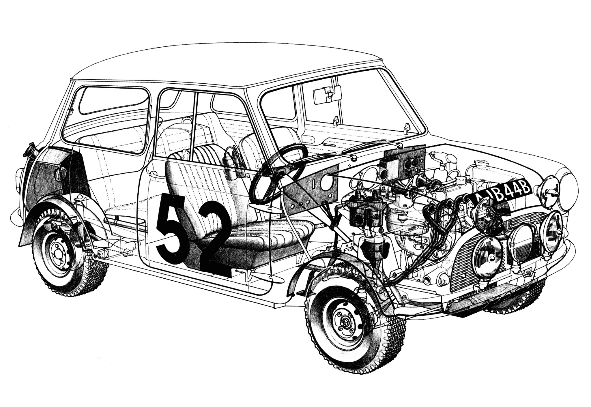 Mini Cooper S Cutaway Wallpaper