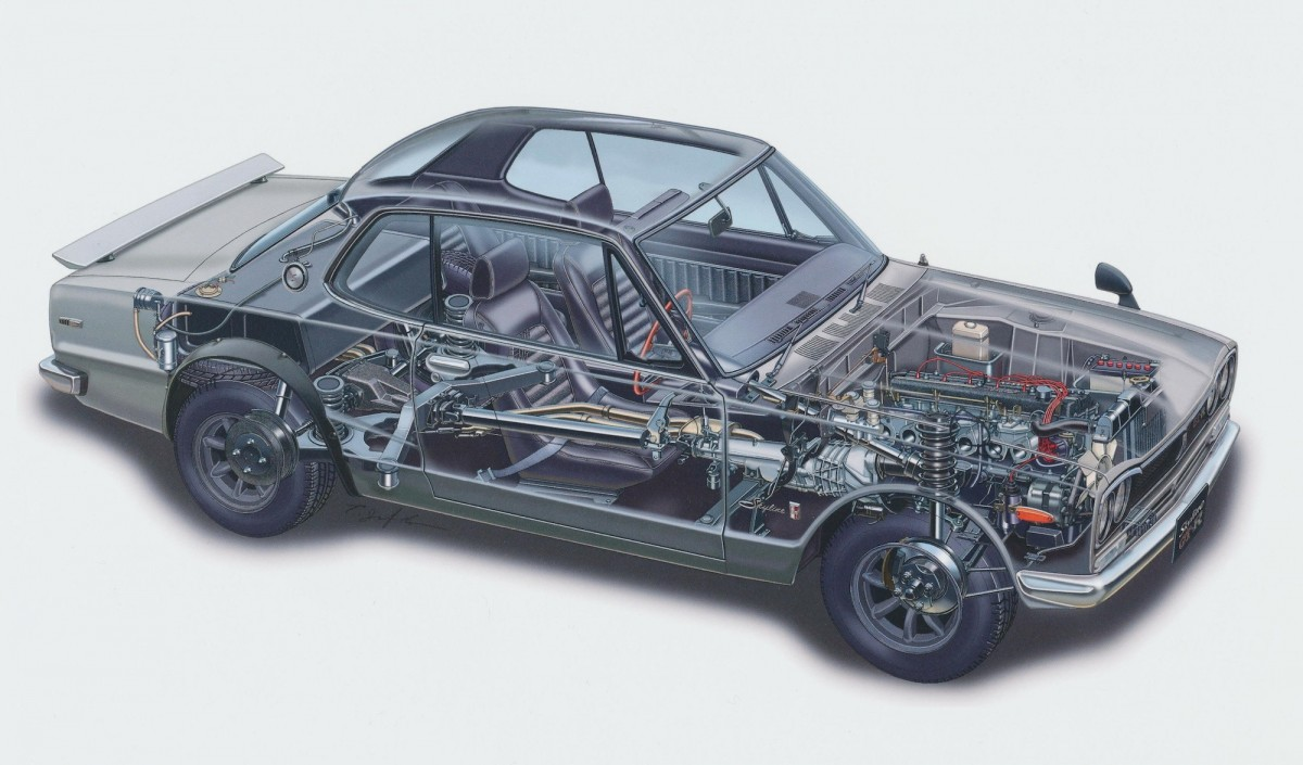 Nissan Skyline Cutaway Wallpaper 1200x705 - Nissan Skyline Cutaway Wallpaper