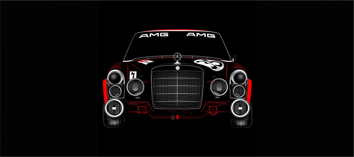The Red Pig AMG Mercedes 1200x535 - The Red Pig Print