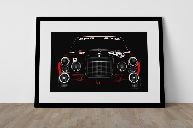The Red Pig Mercedes AMG Poster