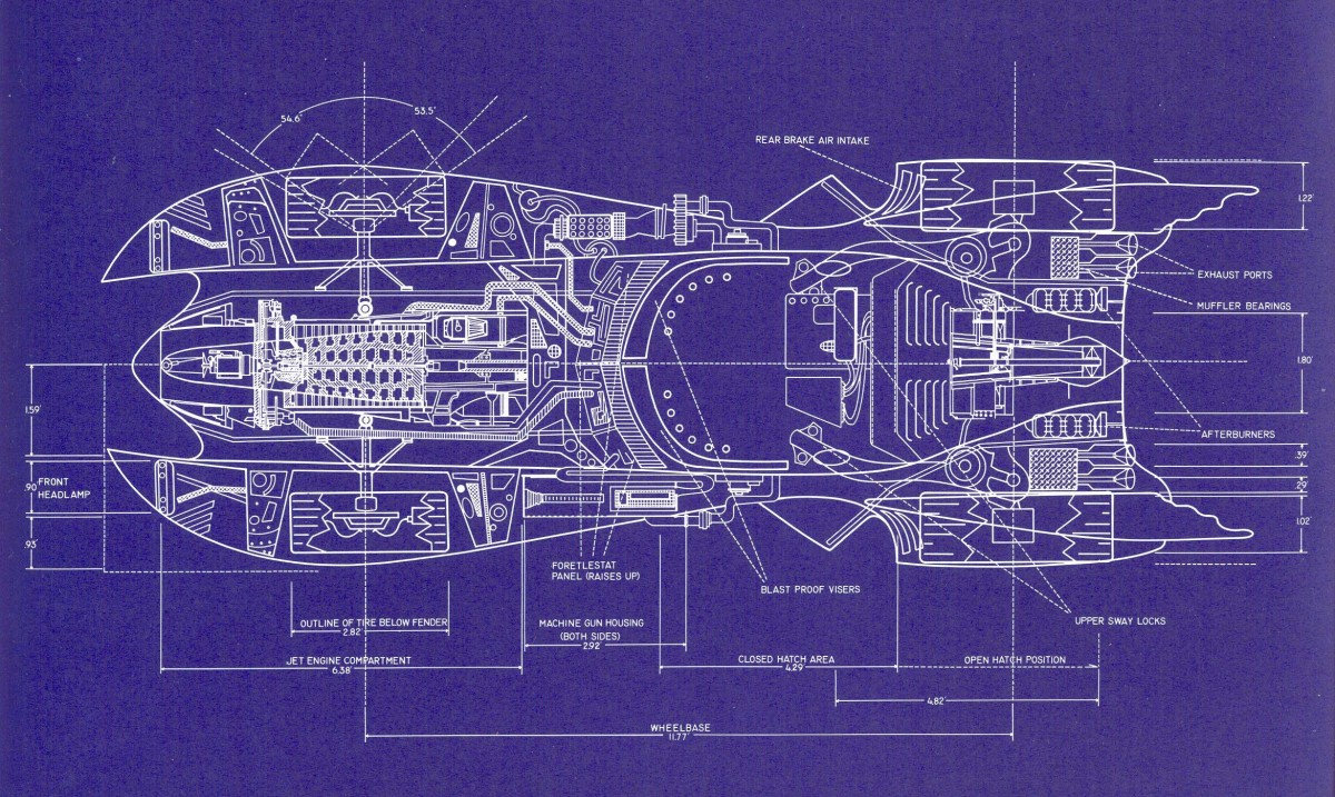 Batmobile Blueprints