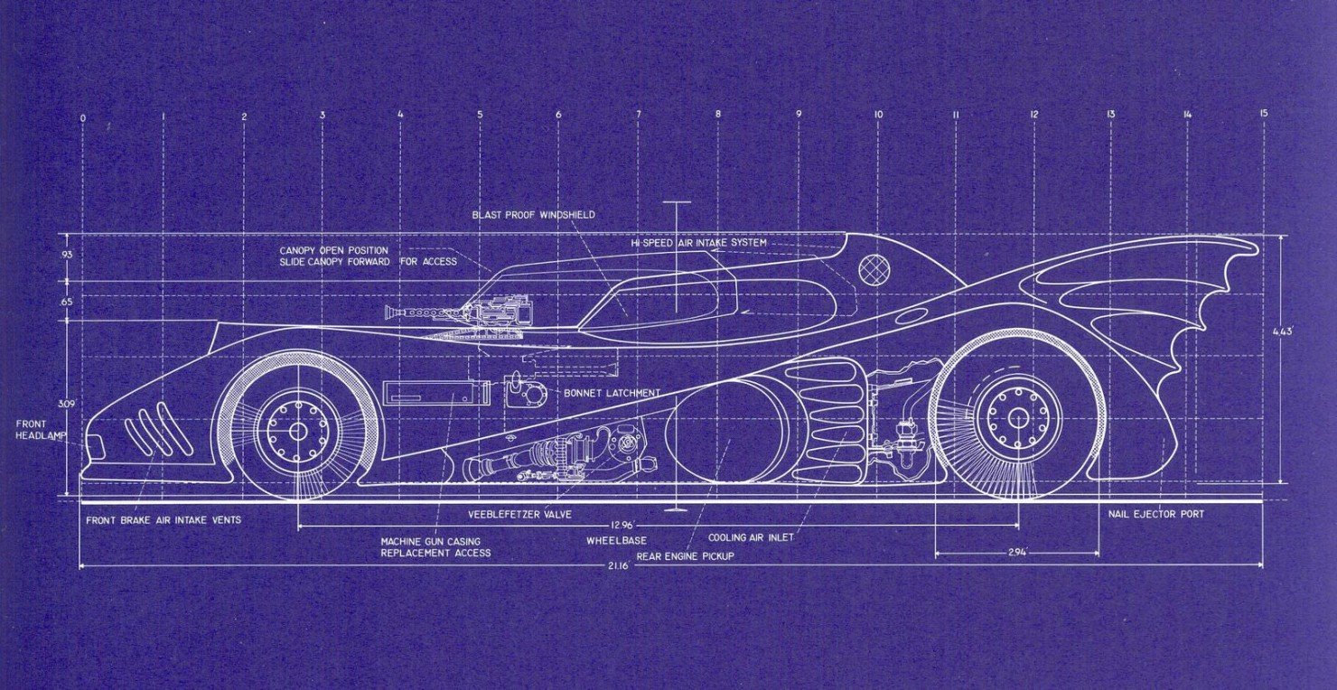 Batmobile Blueprints 2