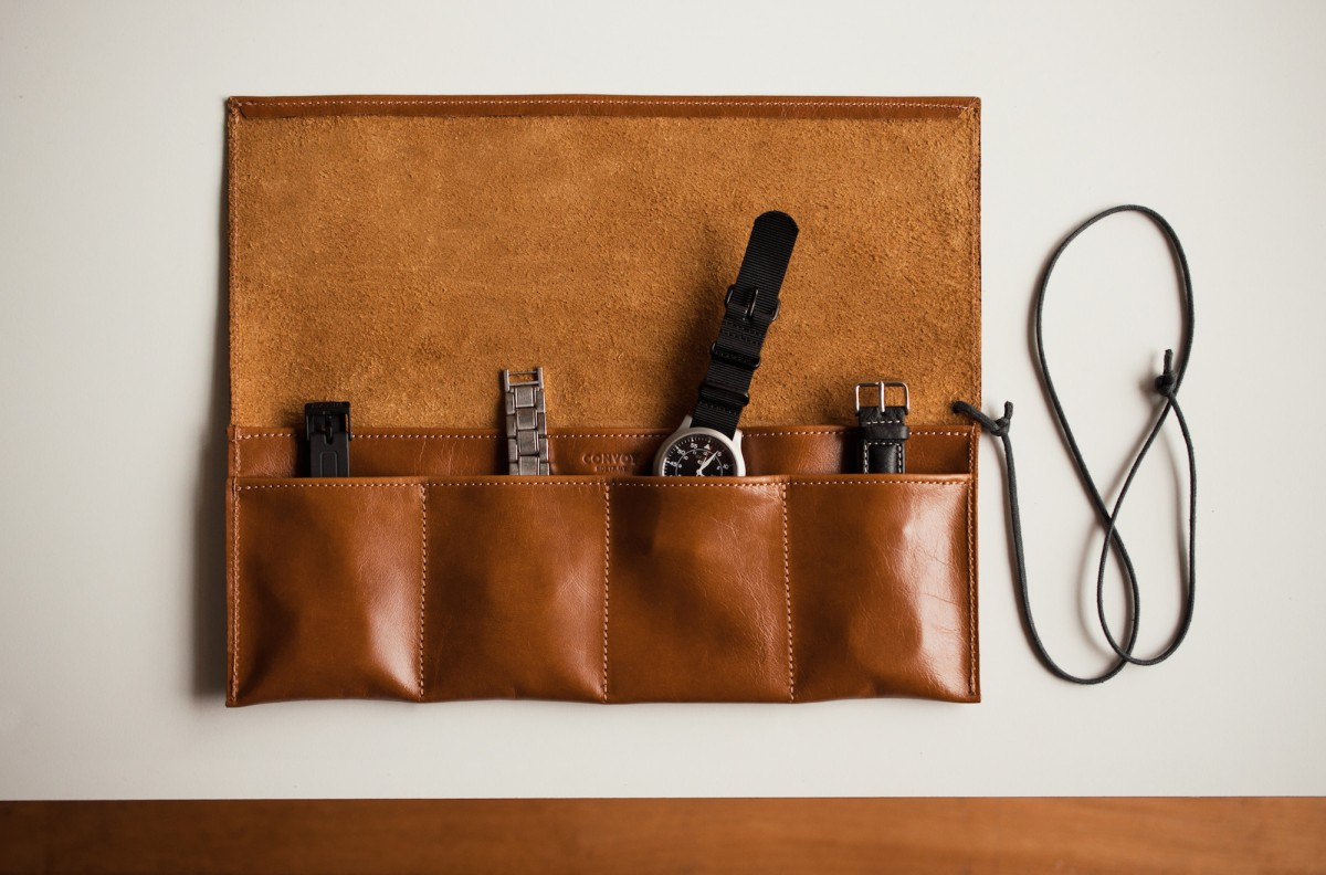 Leather Watch Roll 1200x792 - Watch Roll by Convoy Goods