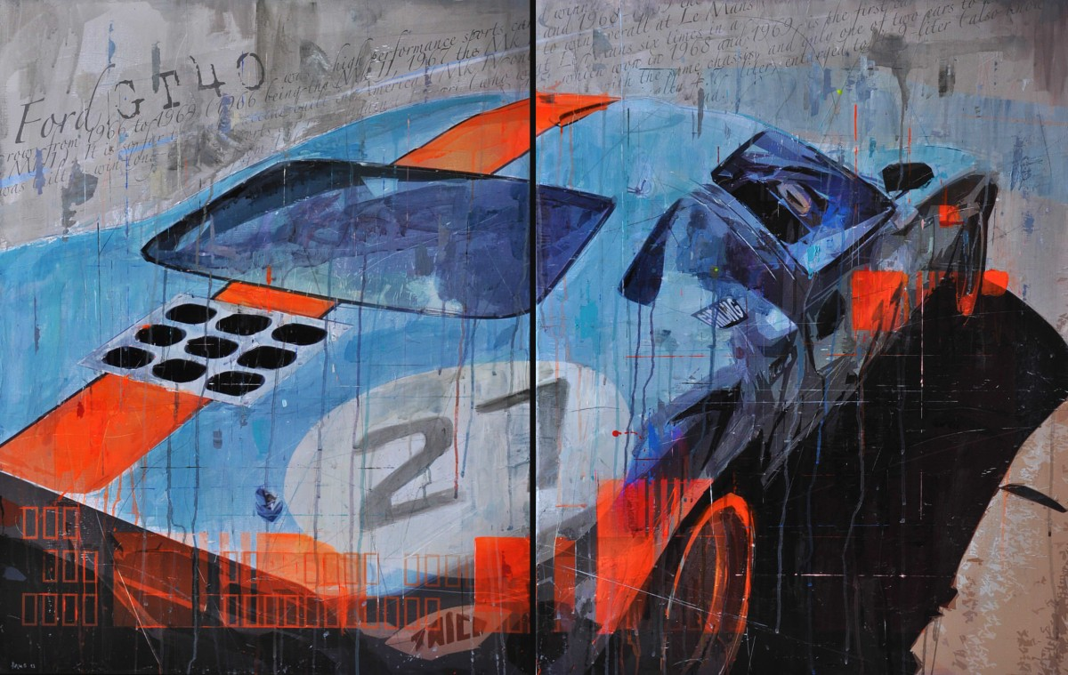 Ford GT40 Art 1200x759 - Automobile Art by Markus Haub