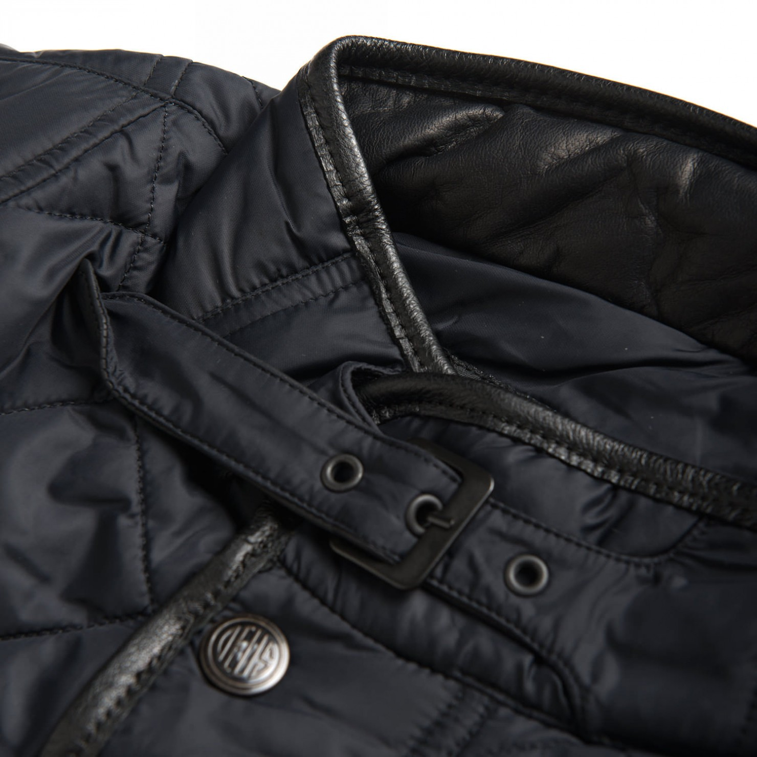Quilted Motorcycle Jacket Detail