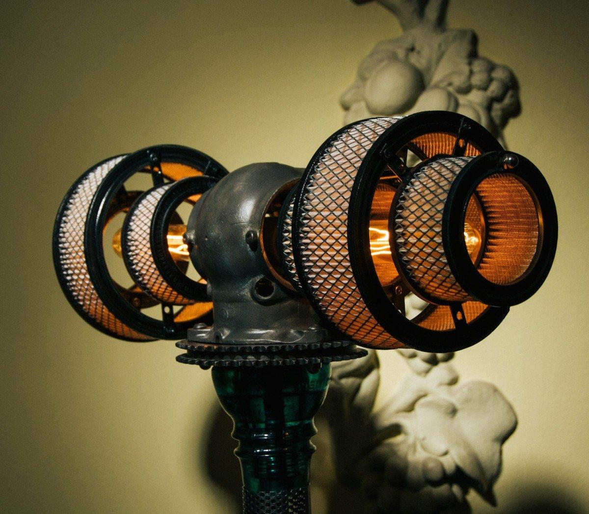 Atlas Steampunk Lamp By Futility Studios Silodrome
