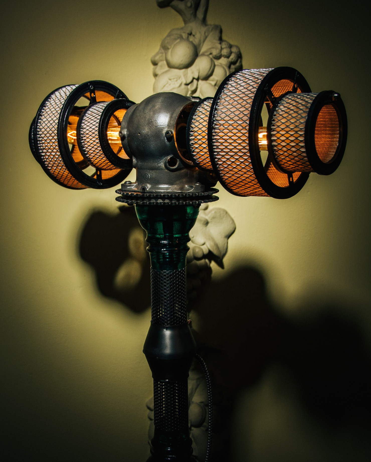 Atlas Steampunk Lamp By Futility Studios