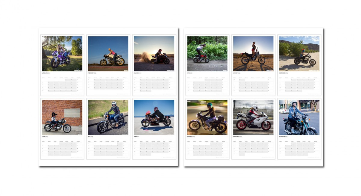 motolady calendar1 1200x654 - 2015 Ladies Who Ride Calendar by MotoLady