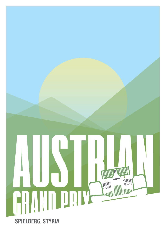 Austrian F1 Poster
