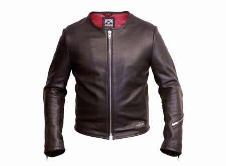 Perforated Leather Motorcycle Jacket 450x330 - 1/4 Mile Leather Jacket by Angry Lane