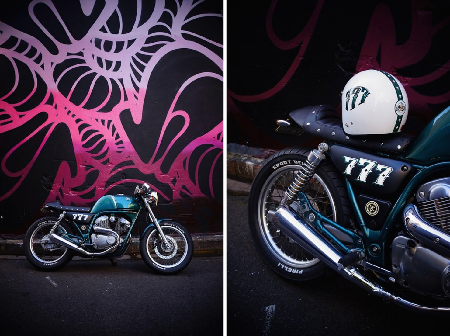 Yamaha SRV250 café race<a href=