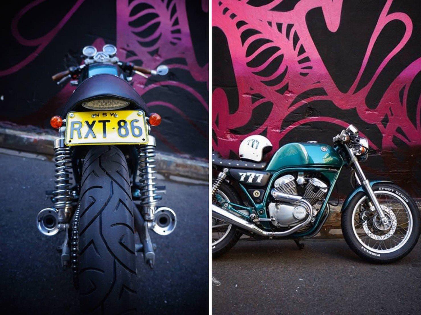 Yamaha SRV250 café racer Collage 2