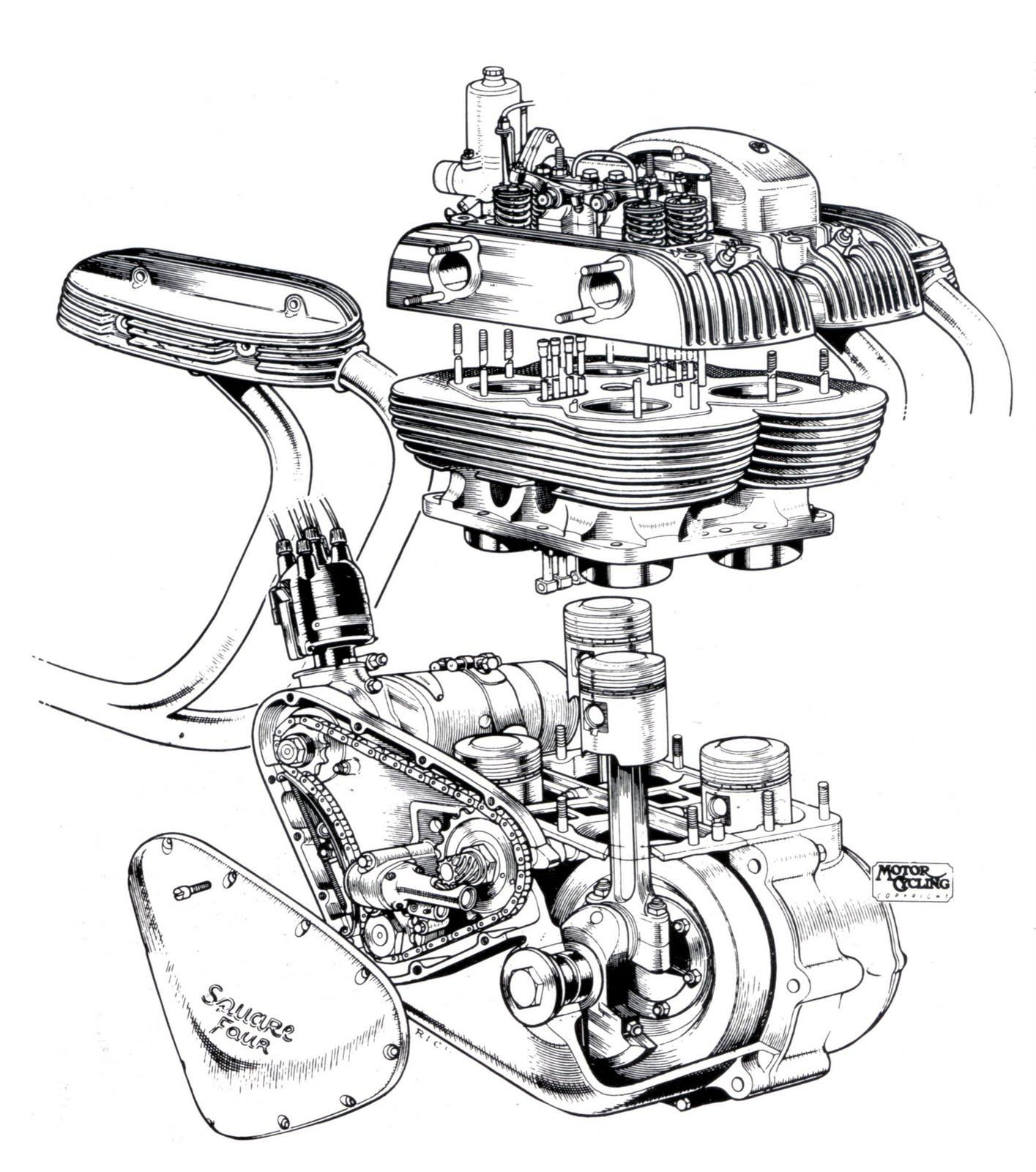 Ariel Square Four Engine