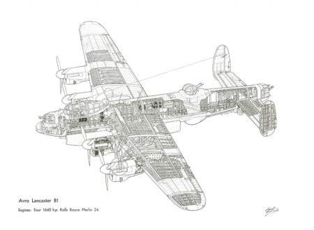 Avro Lancaster Cutaway 450x330