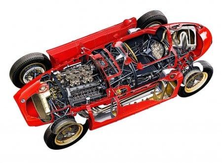 Lancia D50 450x330 - Lancia D50 Cutaway Wallpaper