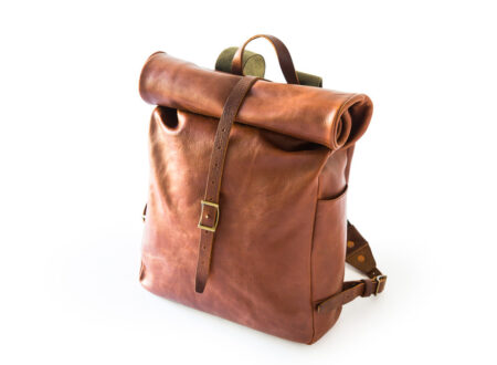 Leather Backpack 450x330 - Roll Top Backpack by Whipping Post