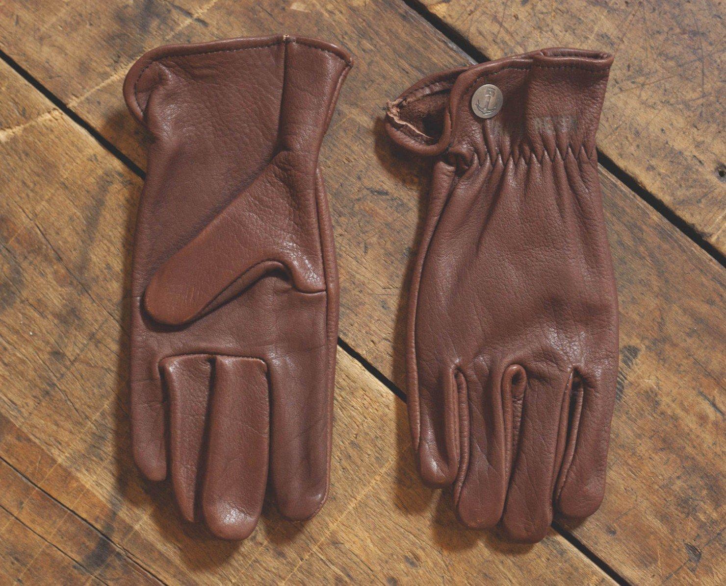Buffalo Leather Motorcycle Gloves