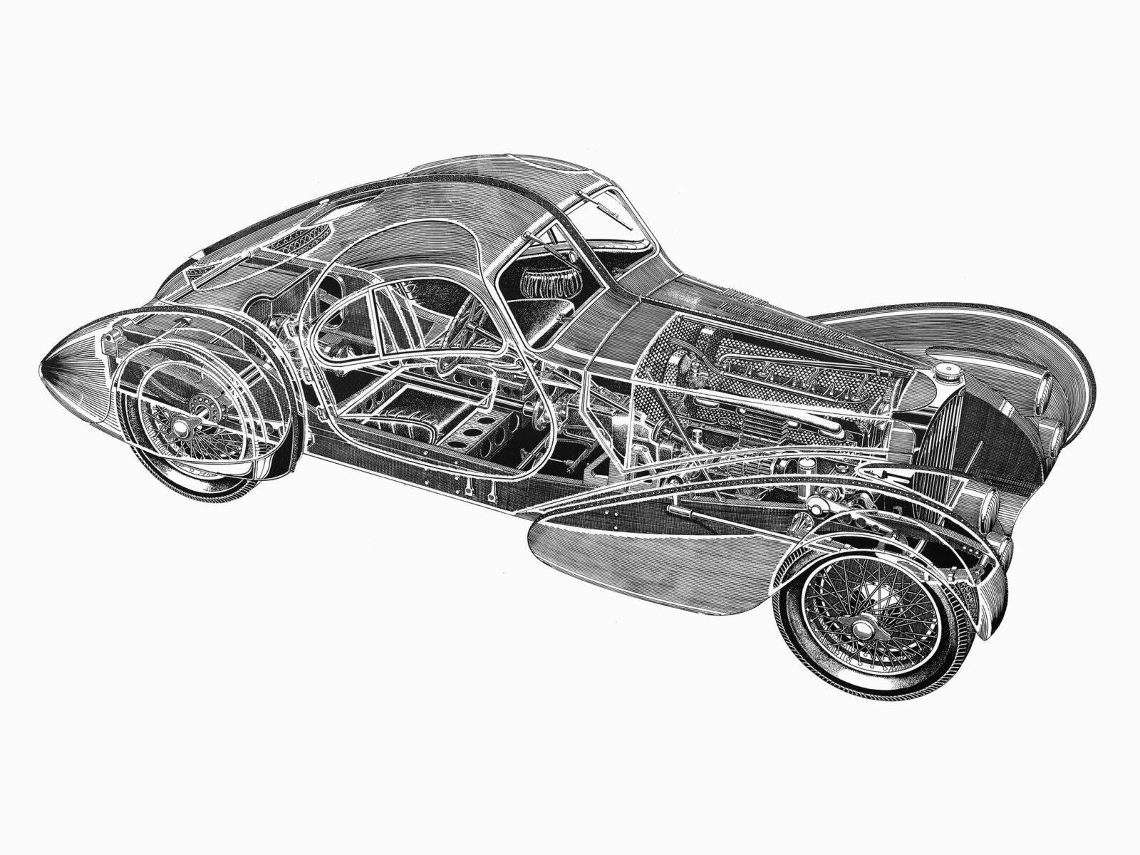 Bugatti Type 57sc 2 1600x1200 - Bugatti Type 57SC Cutaway Wallpaper