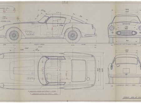 Ferrari Blueprint 450x330 - Original Ferrari Blueprints