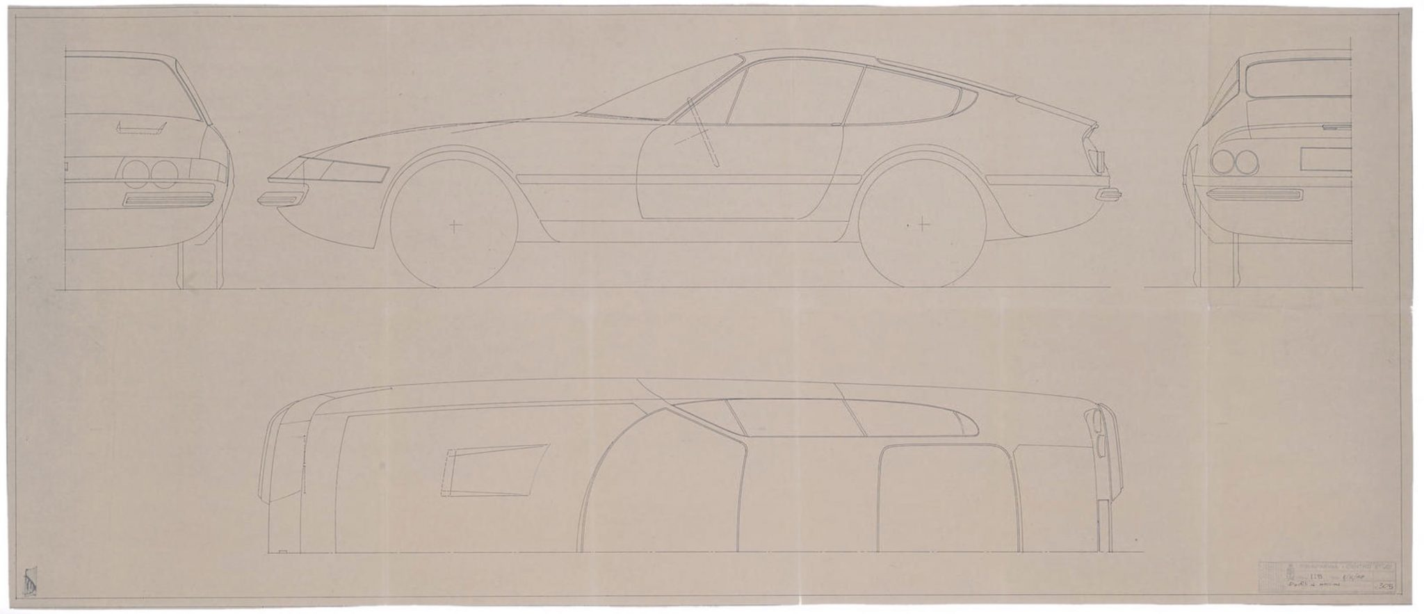 Original Ferrari Blueprints