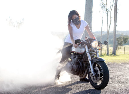 Woman Doing A Burnout 450x330 - The Adventures of Zaya