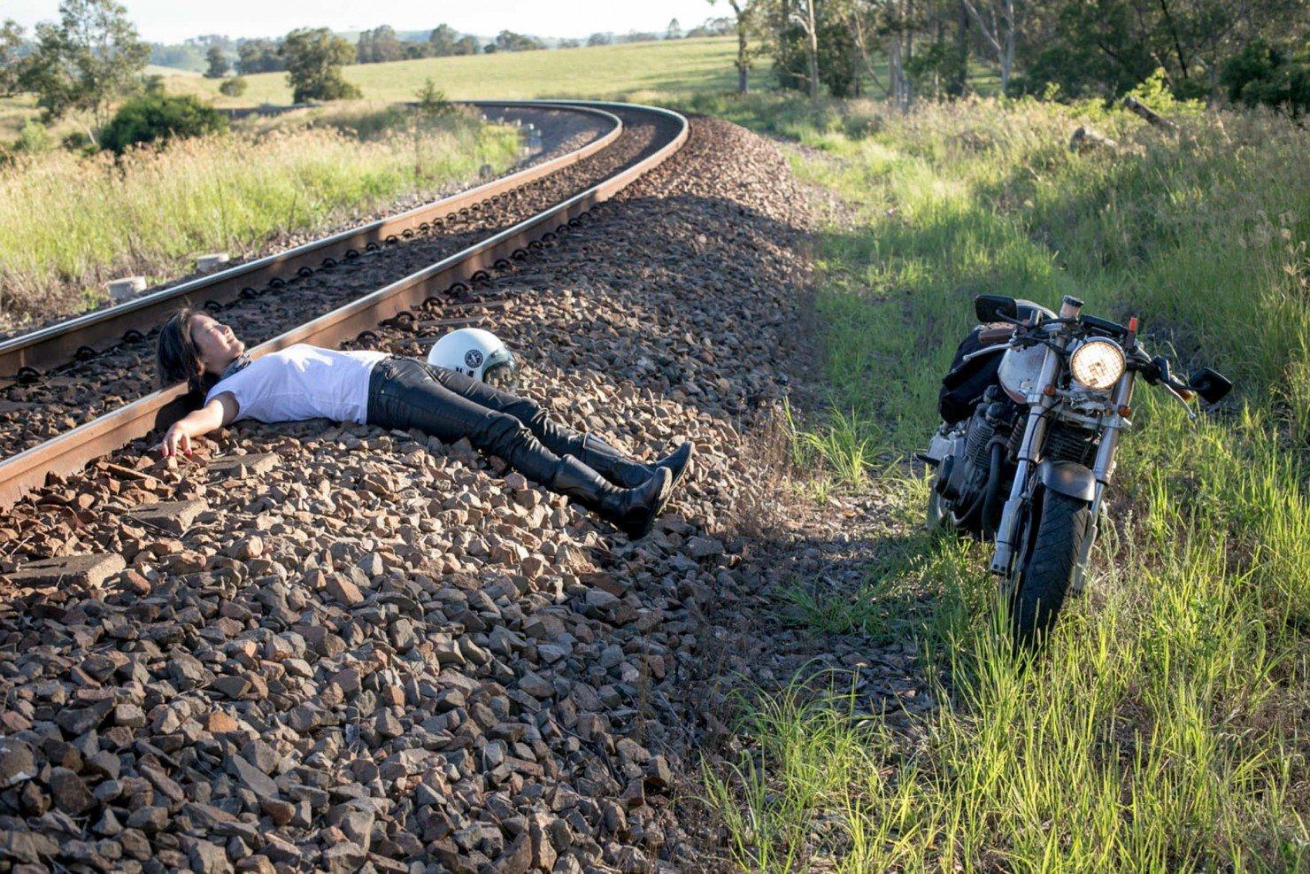 Woman Railway Tracks
