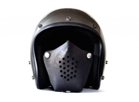 Motorcycle Face Mask 2 450x330 - Leather Motorcycle Masks by Sunday Academy